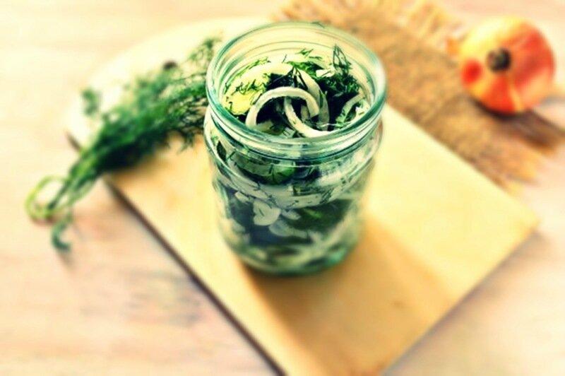 Огуречный салат «Валентина» (домашняя консервация)