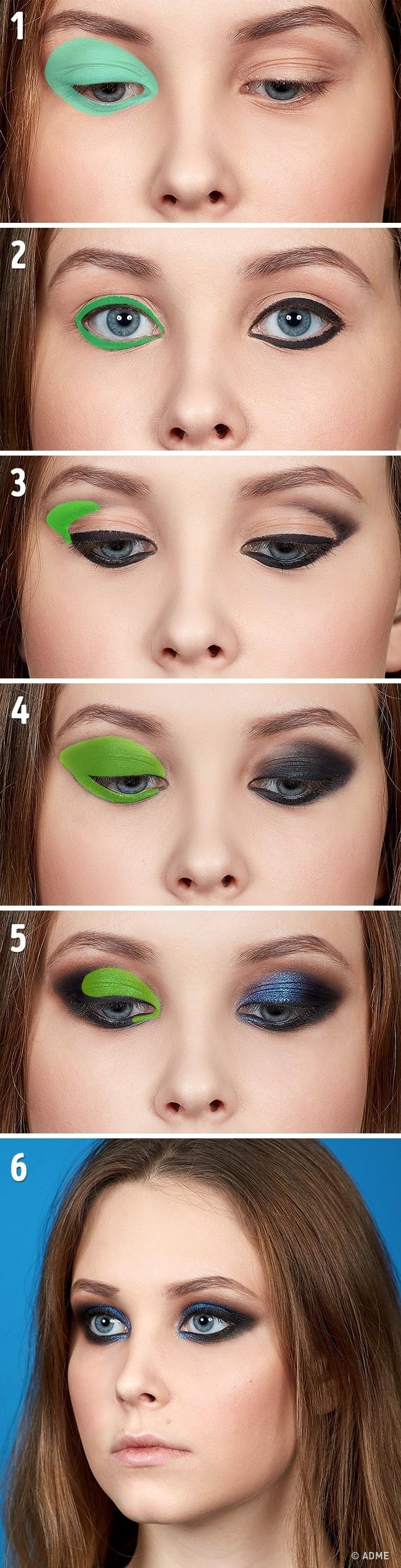 Так как основным принципом данной техники является создание эффекта «дымчатых» глаз, особое внимание