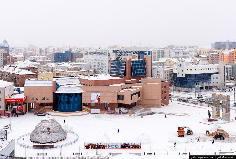 11. Климат Якутска резко континентальный. Средняя температура января — около -40°С. Абсолютный