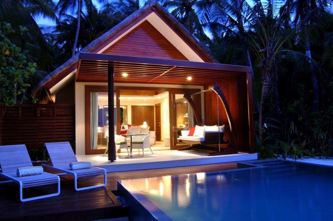 Роскошный отель Niyama Maldives на Мальдивах. Отель насчитывает 86 комфортабельных, отдельно стоящих