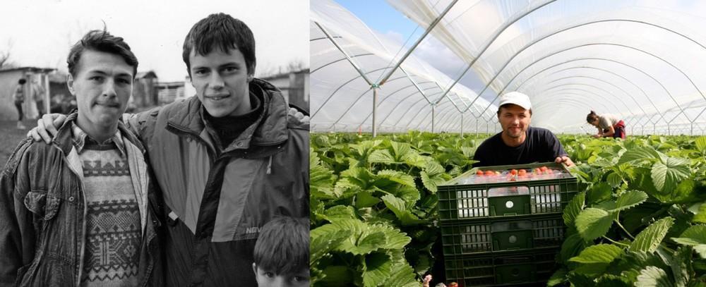 Раду Эсану в 1993 году было 15 лет (он слева). Второе фото было сделано в 2007 году в Шотландии. Каж