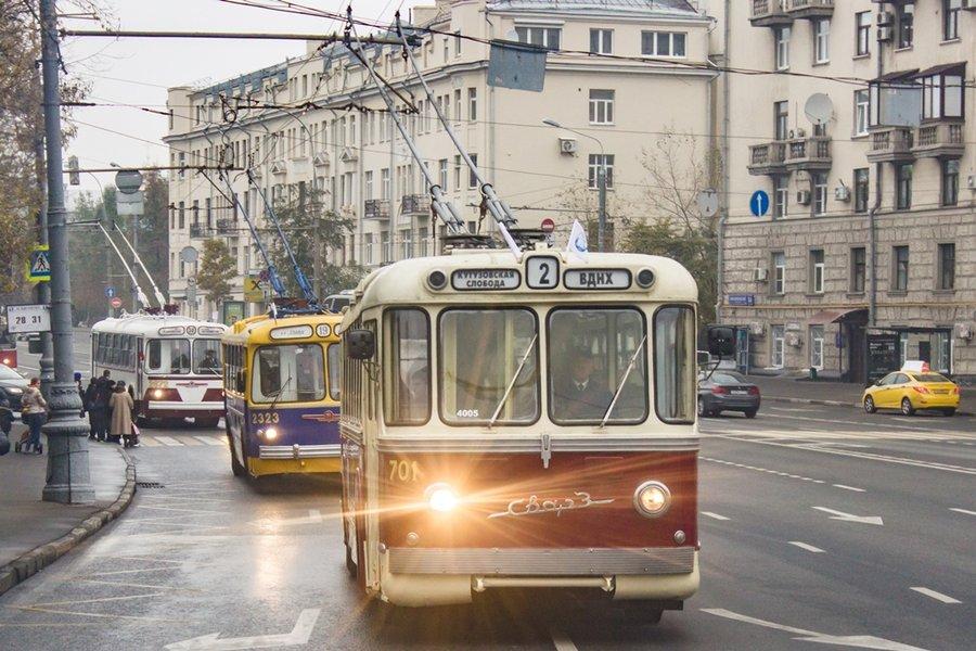 ВМоскве состоится пробег троллейбусов