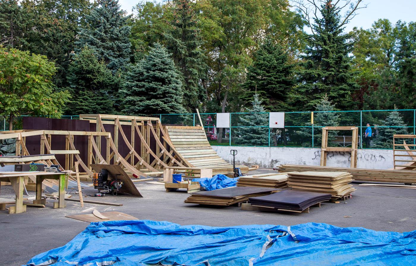 Скейт парк в Анапе реконструкция