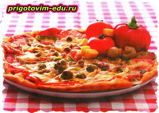 Пирог с томатами и базиликом