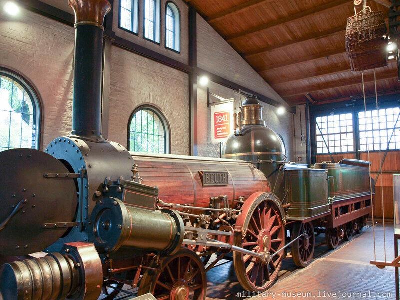 """Копия локомотива """"Beuth"""" производства фирмы Borsig. Оригинал был построен в 1842 г., а сама копия - в 1912 г."""