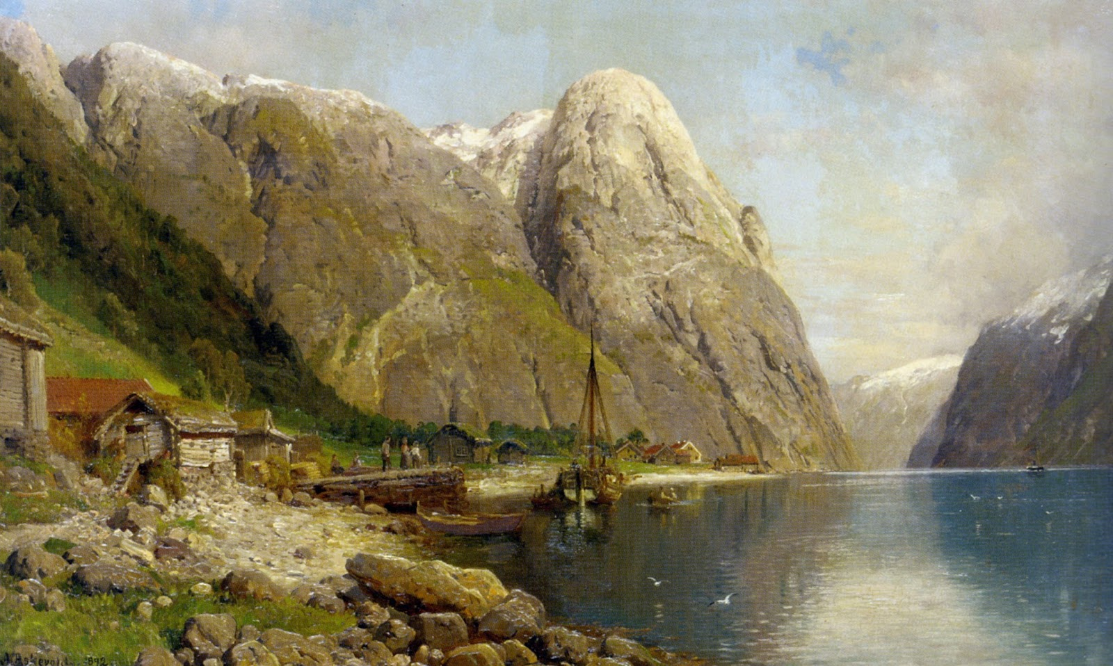 1 Anders Monsen Askevold     A Village on a Fjord.jpg