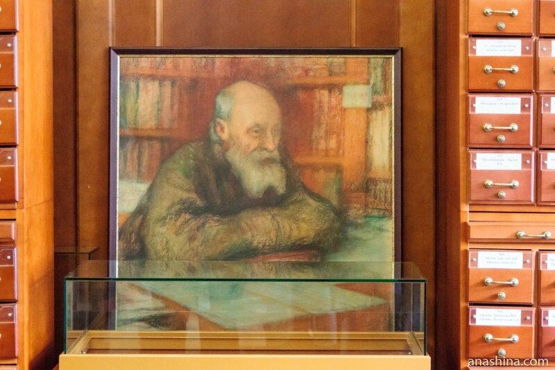 Портрет Николая Федорова работы Леонида Осиповича Пастернака
