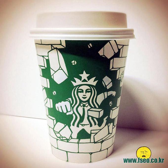 Starbucks cup art por Soo Min Kim (25 pics)