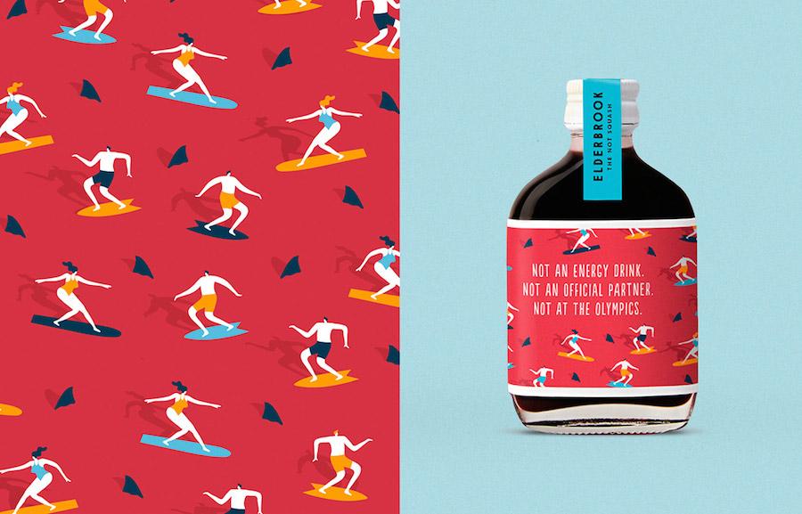 Pop & Colorful Branding for Elderbrook Drinks