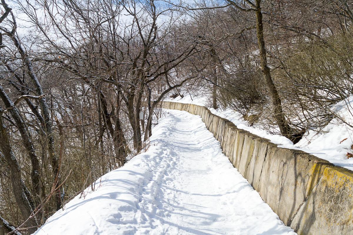 терренкур октябрьское ущелье зима Саратов фото 9