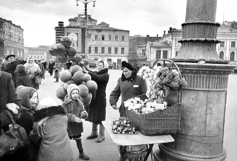 Московские цветочницы