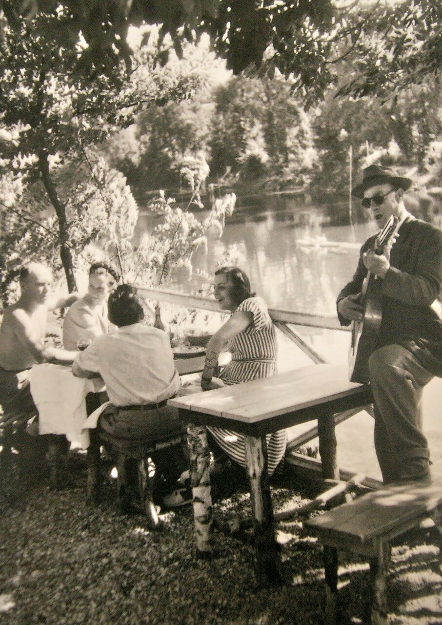 1950-е. Таверна «Бо Риваж», Шампиньи-сюр-Марн