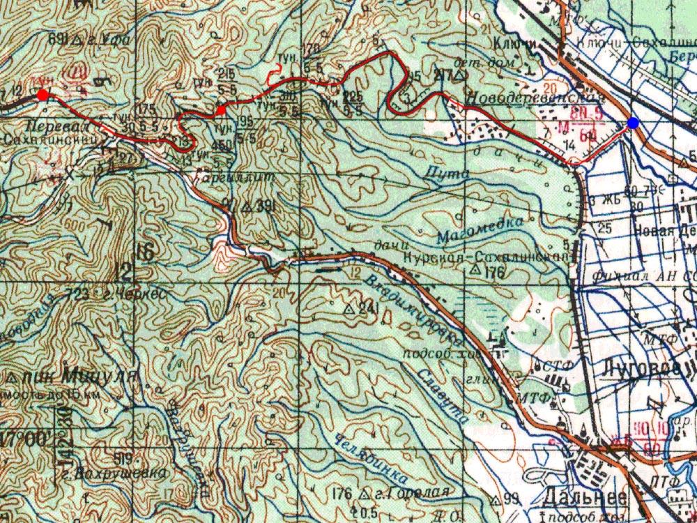 Карта маршрута 6 сентября