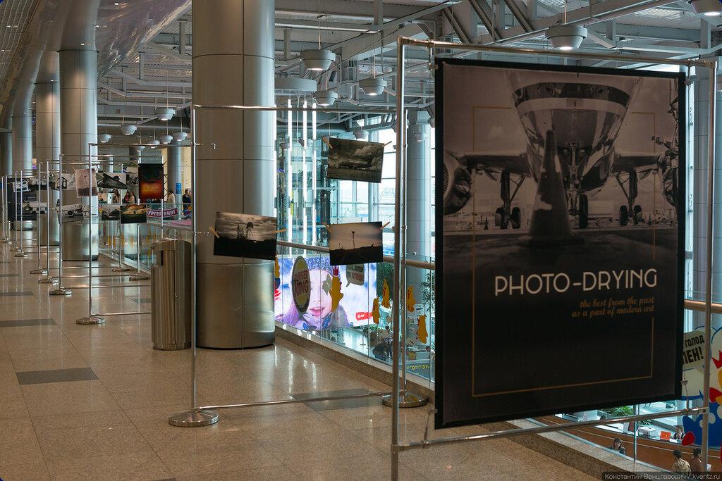 На третьем этаже была организована фотовыставка