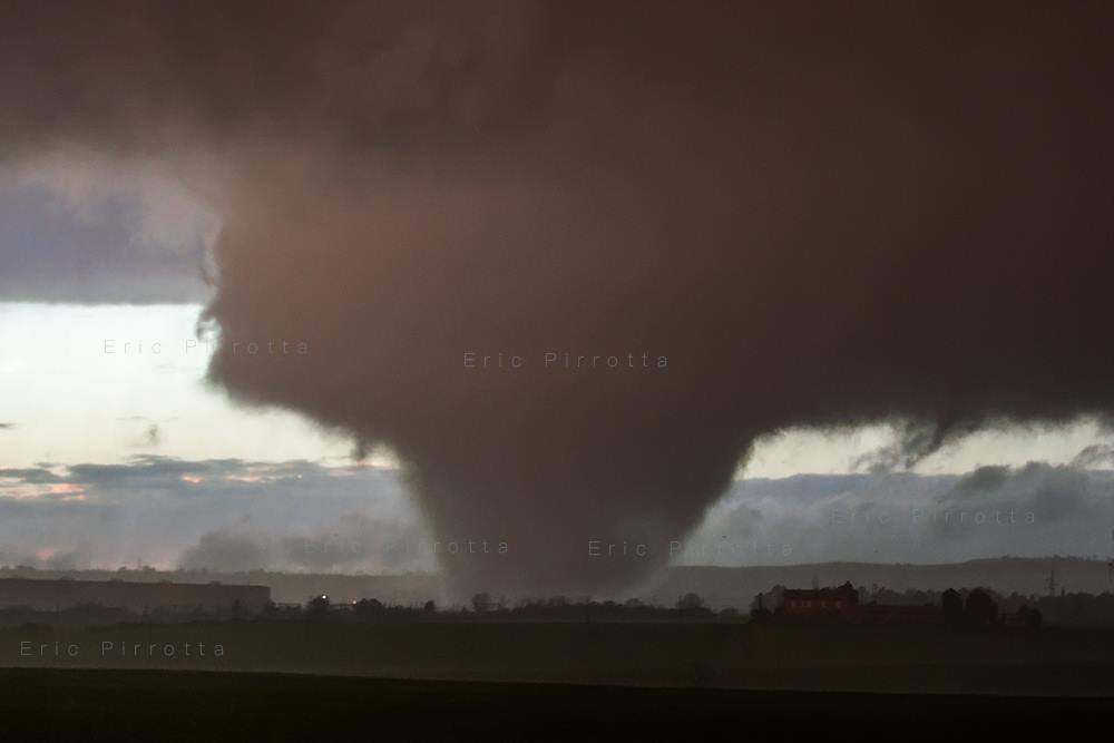 A Violent Wedge Tornado in Italy today by Eric Pirrotta.