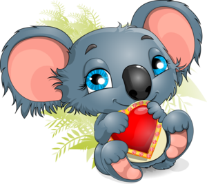 коалла с сердечком