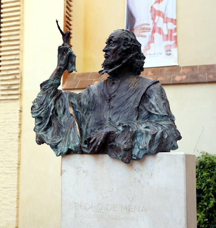 Малага. Памятник скульптору  Педро-де-Мена