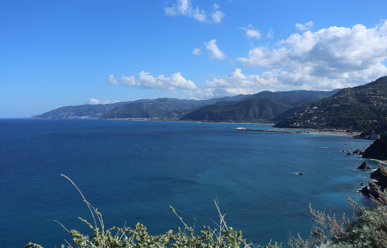 Capo d'Orlando. The Bay of San Gregorio with Cape Calava