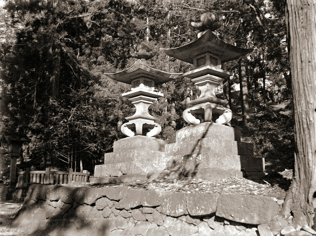 Japan Shrine Stone Lanterns, 1930s.