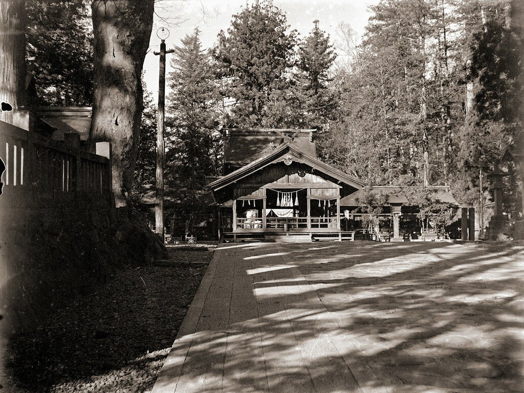 Japanese Shrine Wooden Building, 1930s.