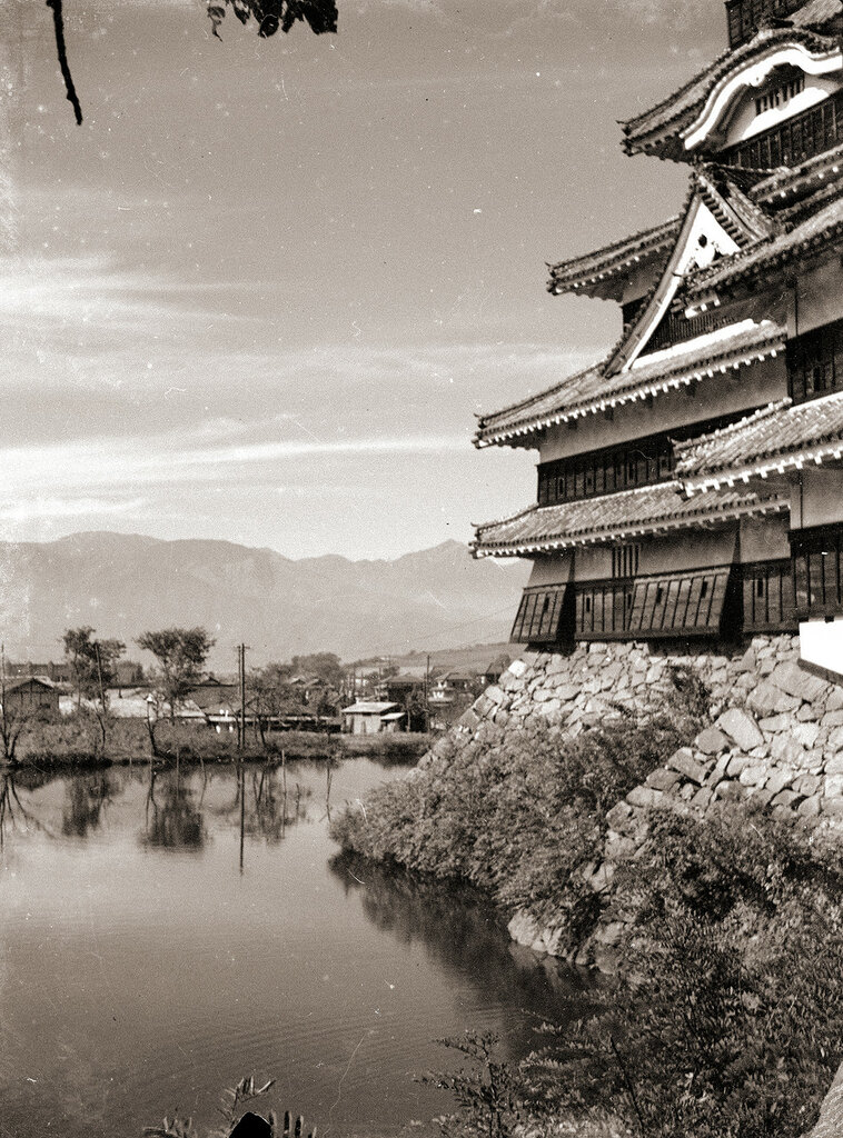Matsumoto Castle Japan 1930s.