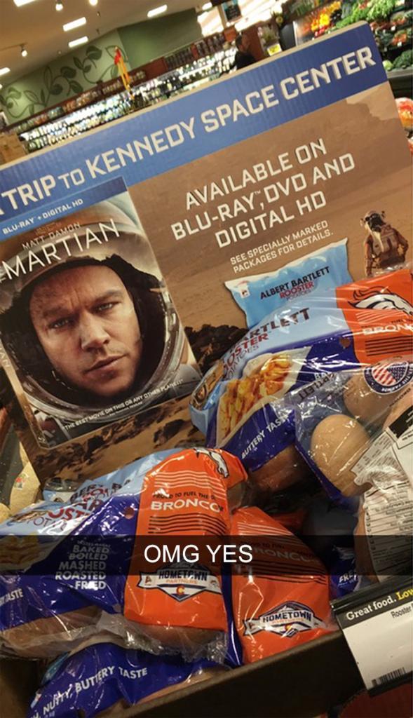 Теперь образ «Марсианина» используют в рекламе картофеля