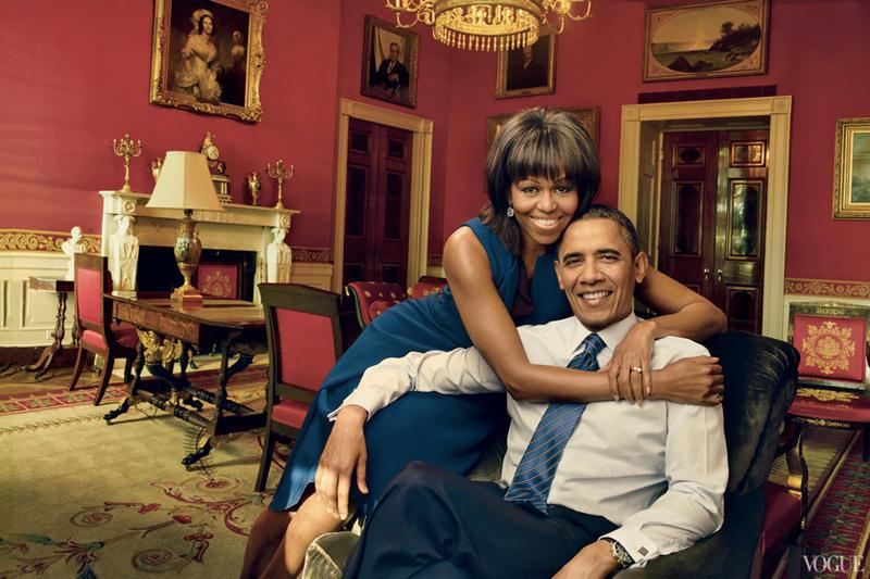 6. Барак Обама с супругой