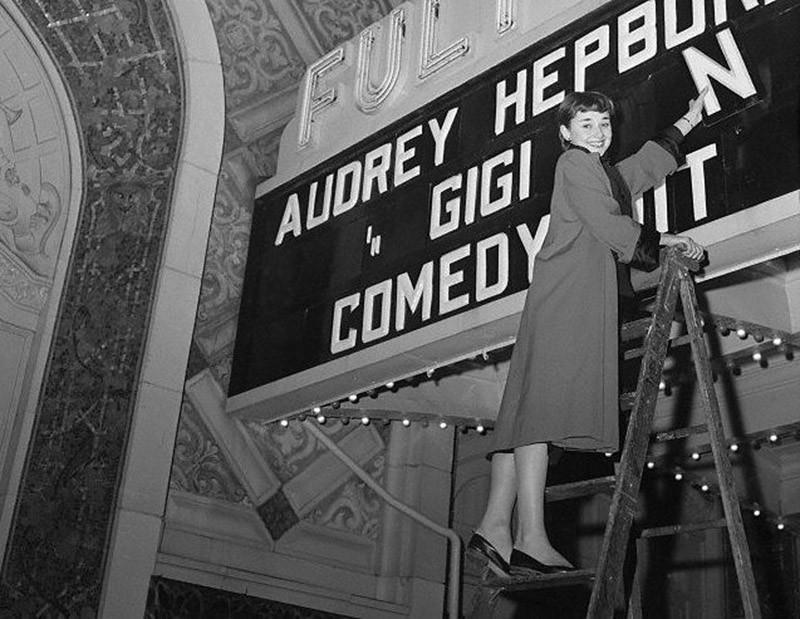 3. Наконец-то! Имя Одри в свете огней Бродвея. 1950 год.