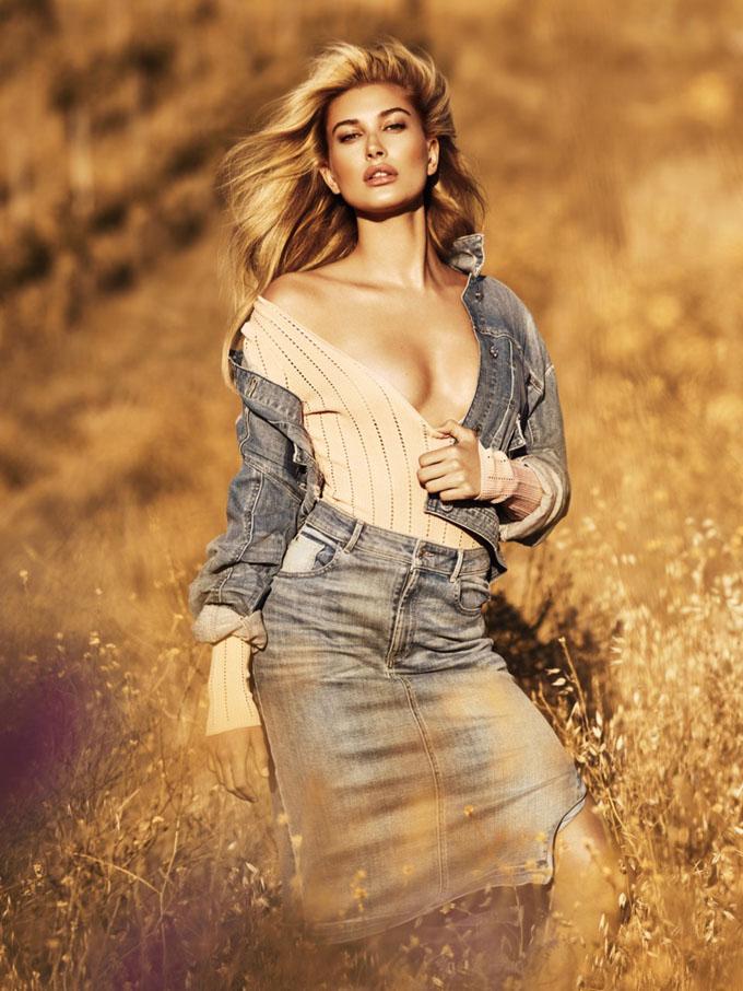 Хэйли Болдуин в рекламной кампании Guess