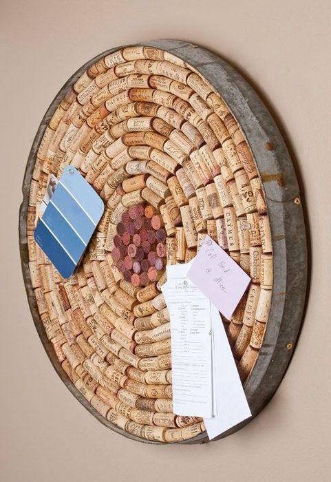 6. Пробковые доски Не выбрасывайте винные пробки, ведь они могут стать прекрасным материалом для изг