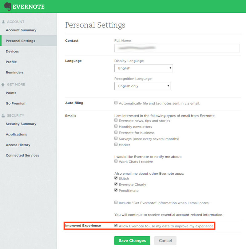 Рабочие Evernote смогут читать заметки пользователей— как это отключить