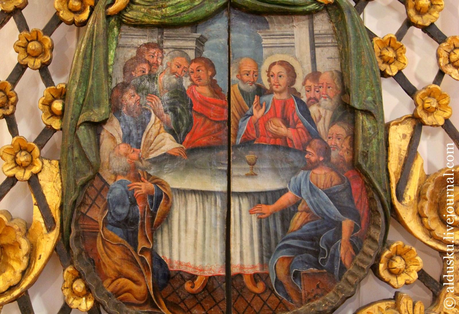 Фрагмент. Царские врата. Середина XVIII в. Дерево, резьба, позолота