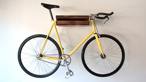 Wooden Bicycle & Book Shelf (3 pics)