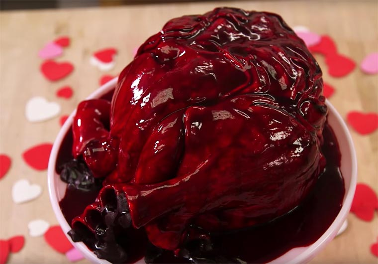 Giving your heart for Valentine's Day? - A realistic cake shaped as a human heart