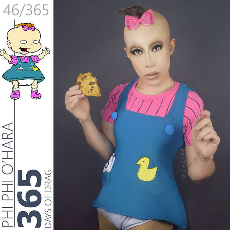 When A Drag Queen Recreates The Famous Cartoon Characters