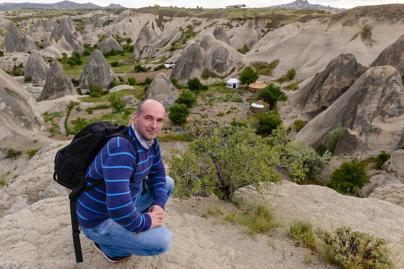 Фото 13. Каппадокия. Так выглядит турист-фотограф с тяжелым фоторюкзаком Ainogirl A2163 за плечами. Отчеты туристов о самостоятельной поездке в Турцию. 1/200, -1.0, 6.3, 500, 24.