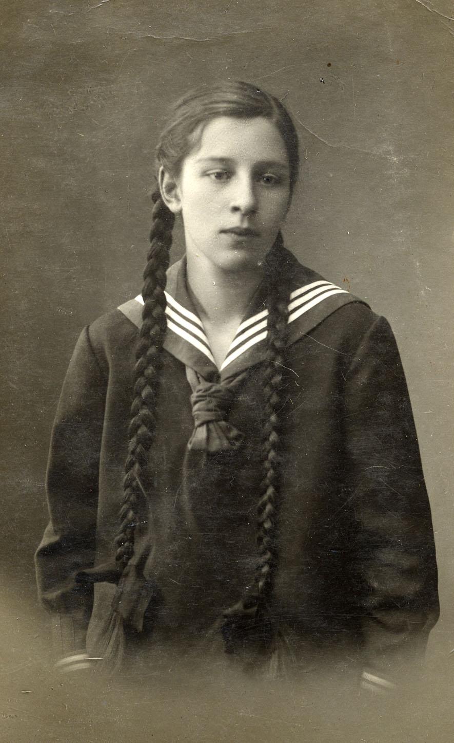 Портрет подруги А.М.Яковлевой - Нины Емельяновой. 1914-1916