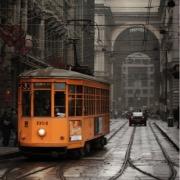 Оранжевый трамвай