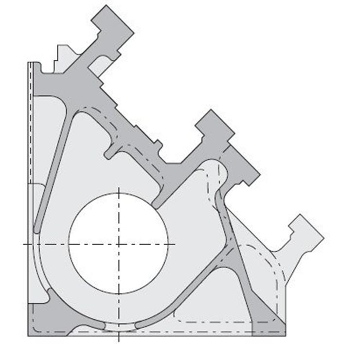 Чугунная цельно – литая жесткая станина станка