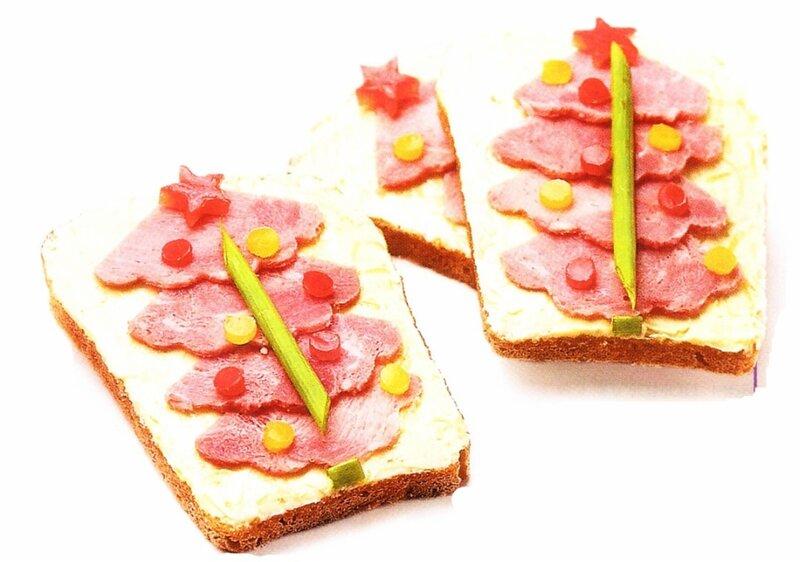 Новогодние бутерброды: приготовление и красивое оформление