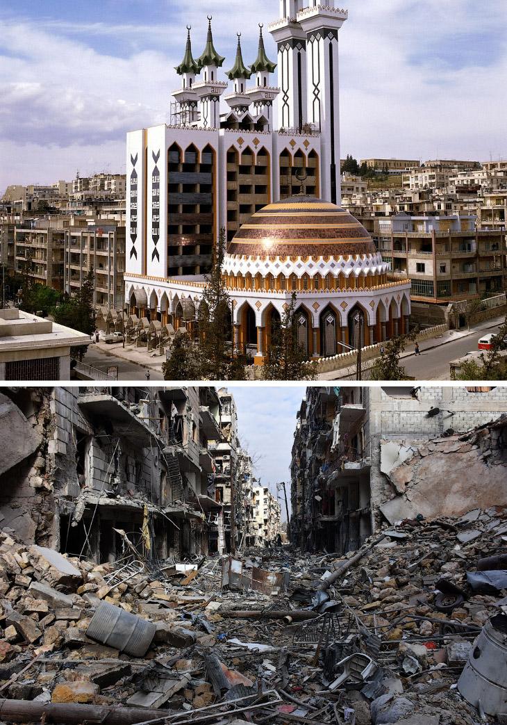 1. Еще недавно Алеппо жил спокойной жизнью. Это Великая мечеть Алеппо, которая вместе с прилега