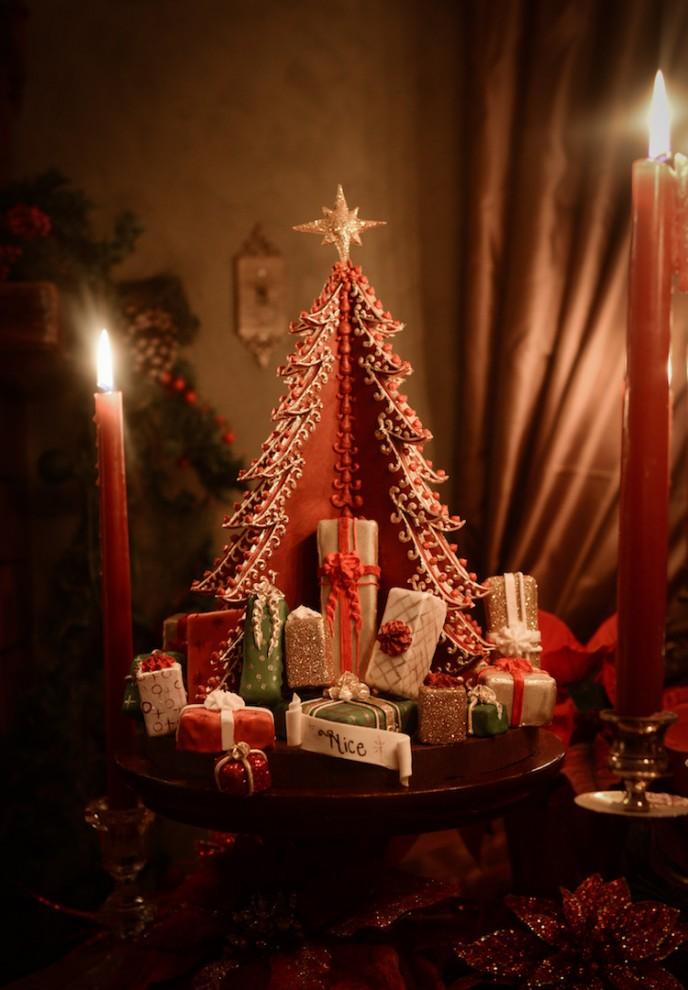 Шедевр кондитерского искусства: полутораметровый пряничный замок к Рождеству