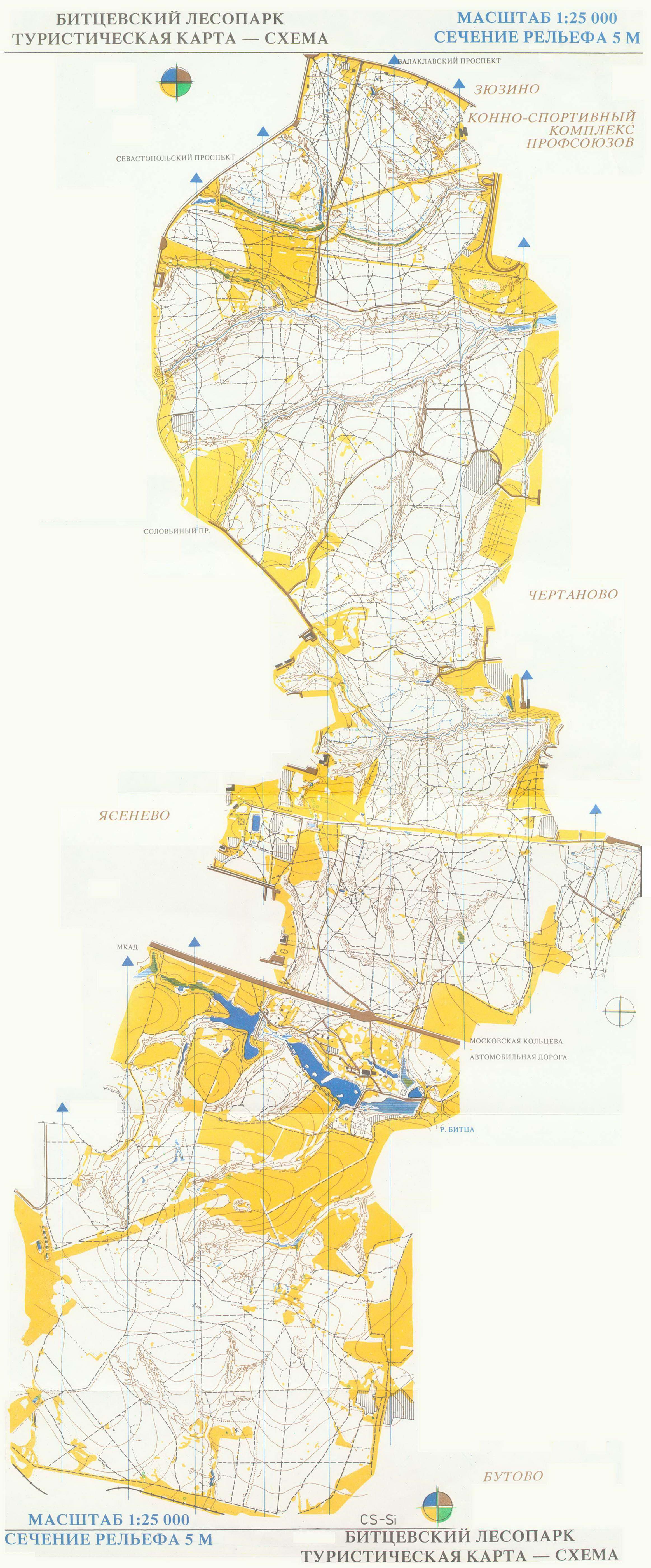 Карта Битцевского лесопарка