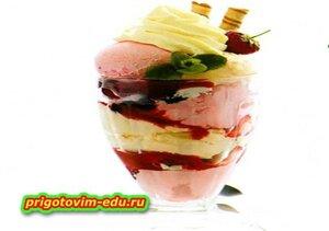 Десерт из домашнего мороженого