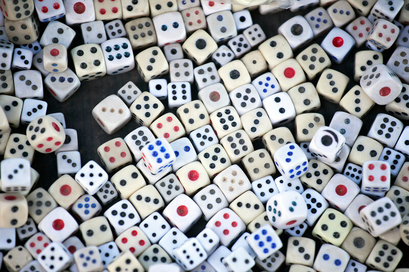 the dice concept for business risk, chance, good luck or gambling