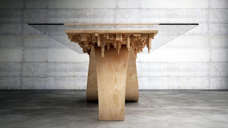 Wave City Dining Table by Mousarris