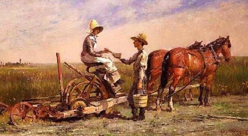 2 Theodore Robinson (American painter, 1852–1896) Haying, 1884.JPG