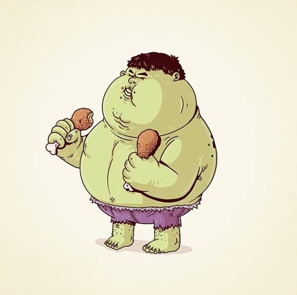 Fat Pop Culture - 26 Illustrations obeses d'Alex Solis !