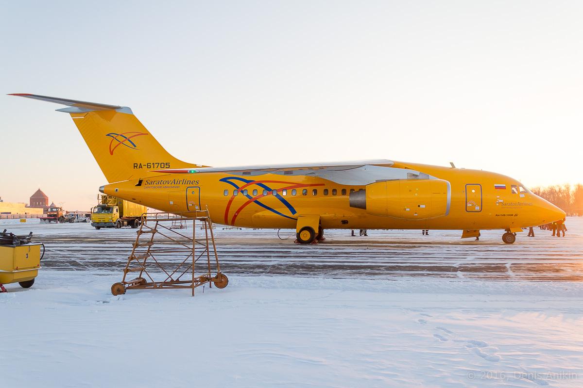 Ан-148 Саратовские авиалинии RA-61705 фото 3