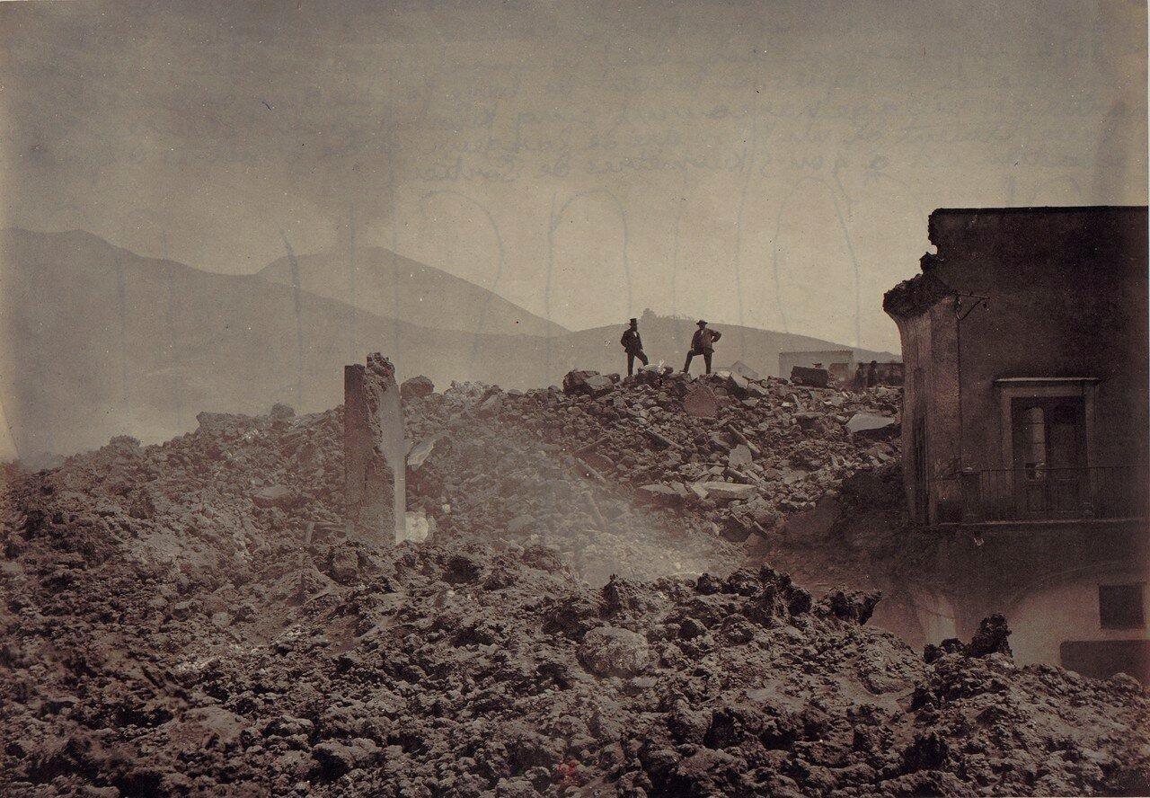 87. Окрестности Неаполя. Сан-Себастьяно, разрушенный извержением 1872 года